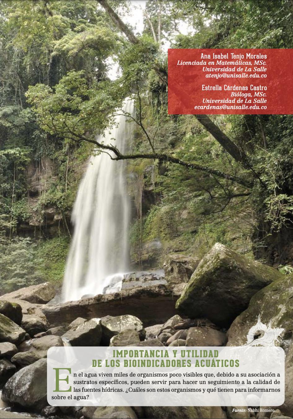 Biodiversidad Colombia. Importancia y utilidad de los bioindicadores acuáticos