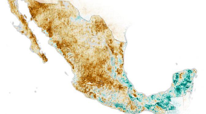 Sequía intensa en México, alerta la NASA (Aristegui Noticias)
