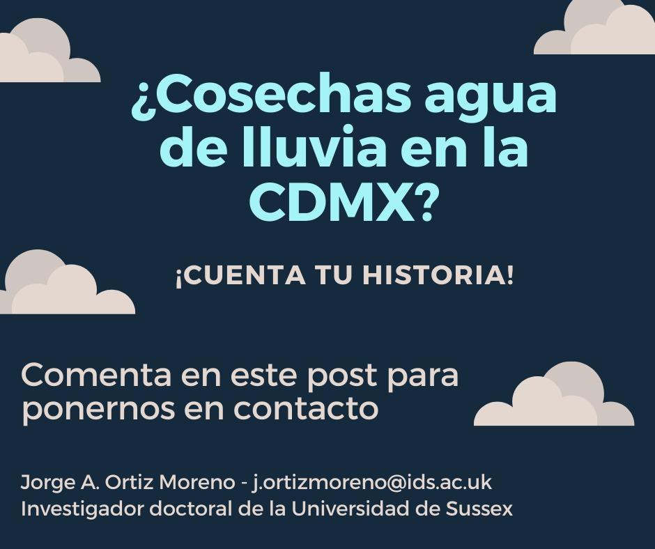 ¿Cosechas lluvia en la CDMX? ¡Cuenta tu historia! 💧📚