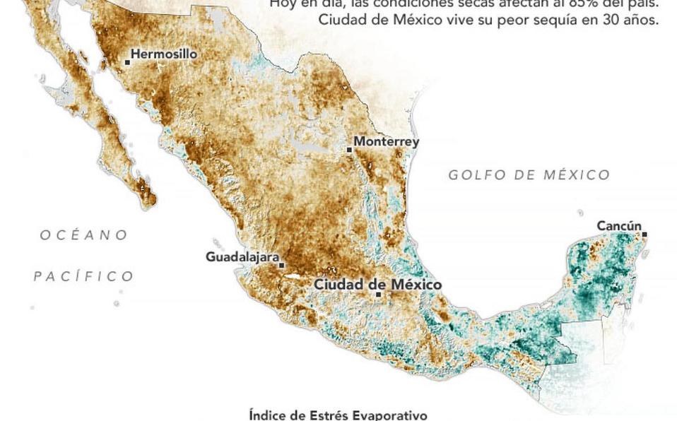 MX: El 85 % del territorio mexicano enfrenta condiciones de sequía (Milenio)