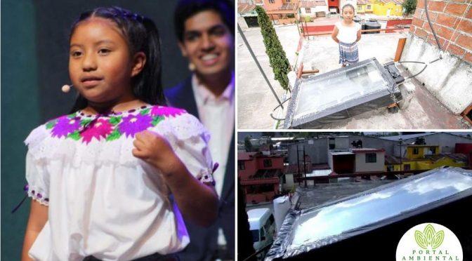 Chiapas: Niña Mexicana crea un calentador de agua solar hecho 100% con materiales reciclados (Portal)