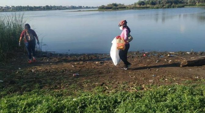 Retiran unos 400 kilos de basura en la laguna de Acuitlapilco (El Sol de Tlaxcala)