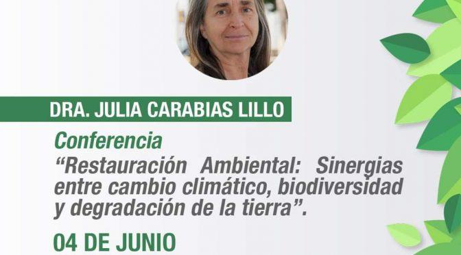 """Conferencia Virtual """"Restauración Ambiental: Sinergias entre cambio climático, biodiversidad y degradación de la tierra"""" (CCGS)"""