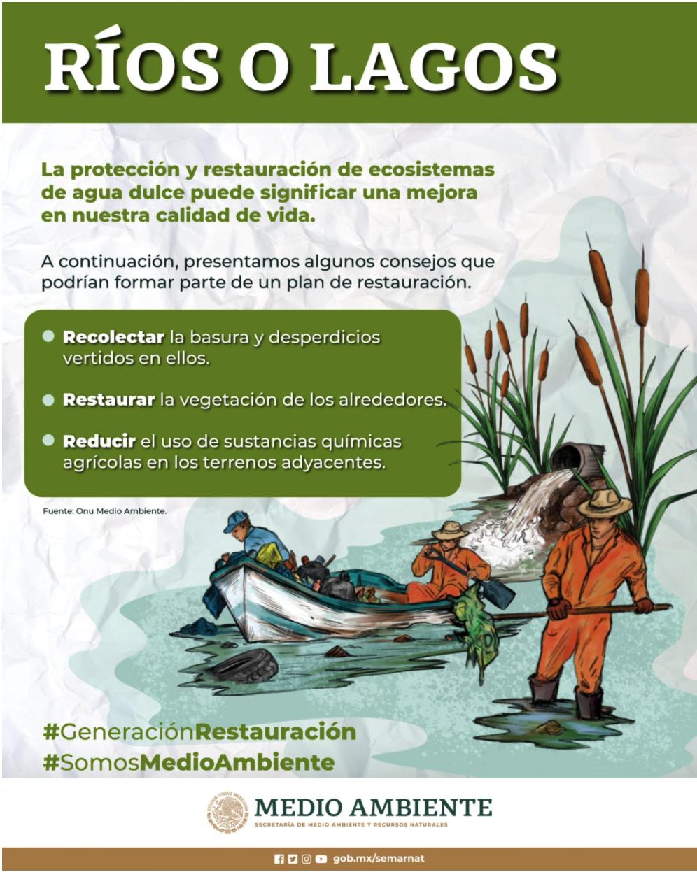 Protección y restauración a ríos o lagos (Infografía)