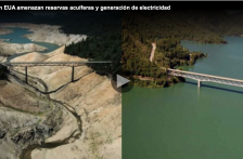 Sequías en EUA amenazan reservas acuíferas y generación de electricidad (Once noticias)