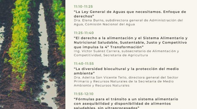 Conferencia – Agua y Soberanía Alimentaria en la Cuarta Transformación (Gobierno de México)