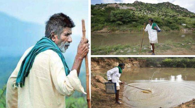 India: Señor construye 16 pozos de agua durante 40 años para que los animales no sientan las sequías (Terriero)