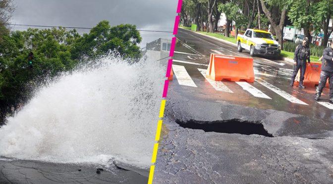 CDMX: ¿Puebla? no, Fuga de agua provoca socavón en canal de miramontes (Sopitas)