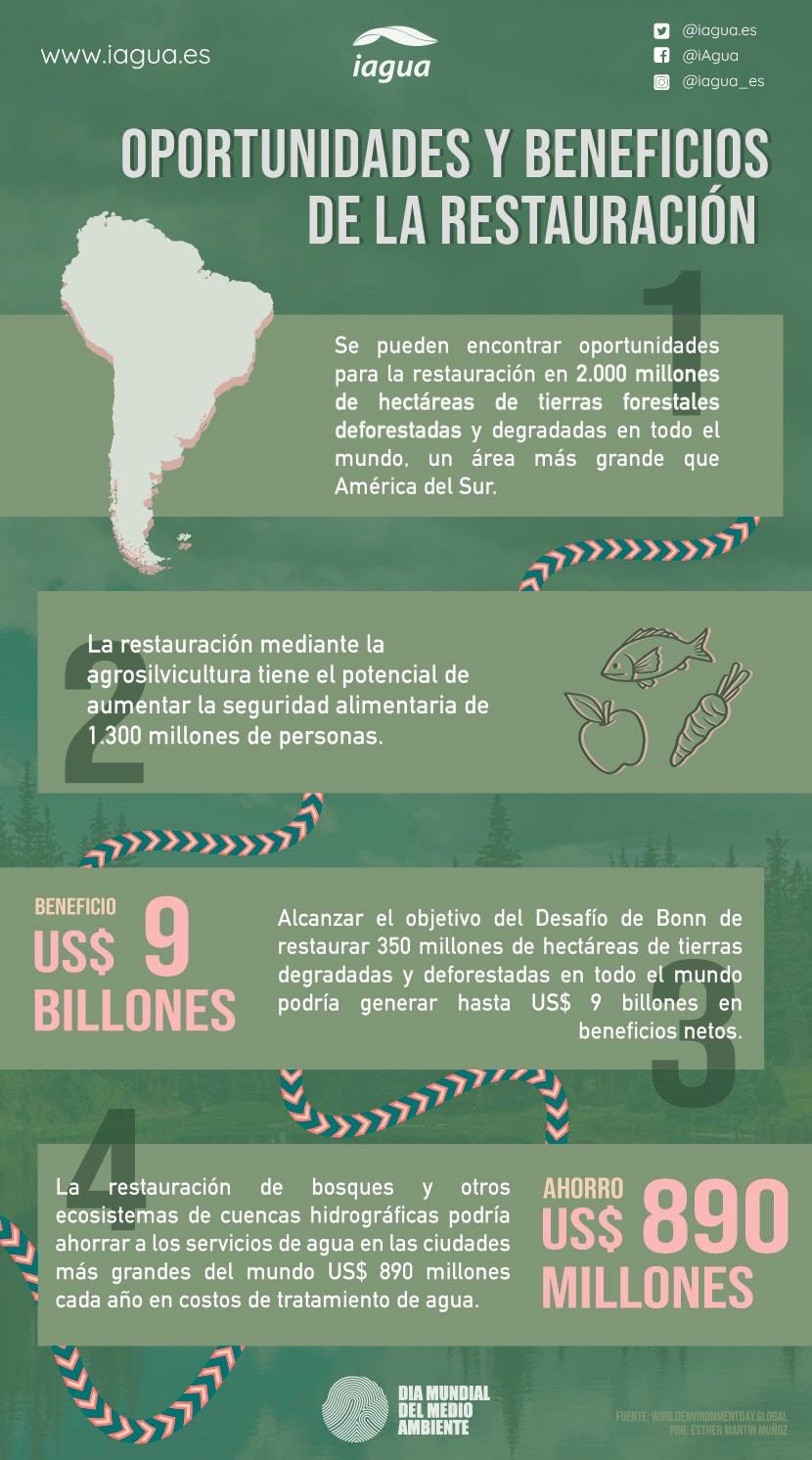 Día Mundial del Medio Ambiente 2021: Oportunidades y beneficios de la restauración (Infografía))