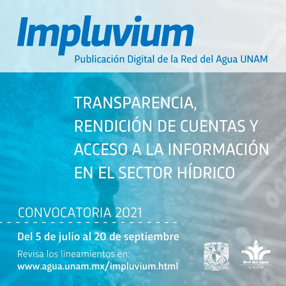 Convocatoria – Revista Digital Impluvium (Agua UNAM)
