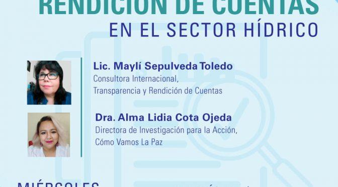 """Ética e Integridad-Serie de Webinars """"Rendición de cuentas"""" (Red del Agua UNAM- UNESCO)"""