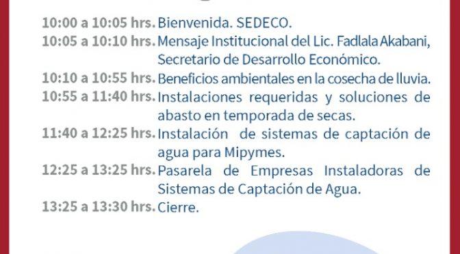 Encuentro virtual – Sistemas de Captación Pluvial (Gobierno de la Ciudad de México)