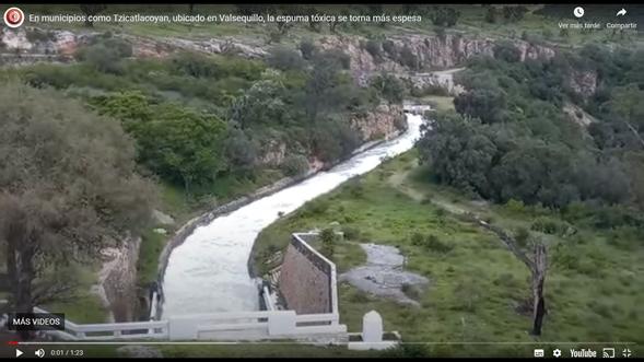 Puebla-Concesiones Integrales SA de CV sigue contaminando Valsequillo; por tercera ocasión aparece espuma tóxica en Puebla (La Jornada de Oriente)