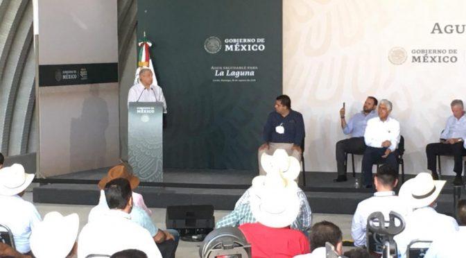 Durango-AMLO fija fecha final para decidir sobre Agua Saludable para La Laguna; demanda retiro de amparos (El Siglo de Torreón)