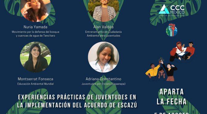 Mesa de diálogo – Experiencias prácticas de juventudes en la implementación del Acuerdo de Escazú (Centro de Colaboración Cívica y Fundación Friedrich Ebert Stiftung)