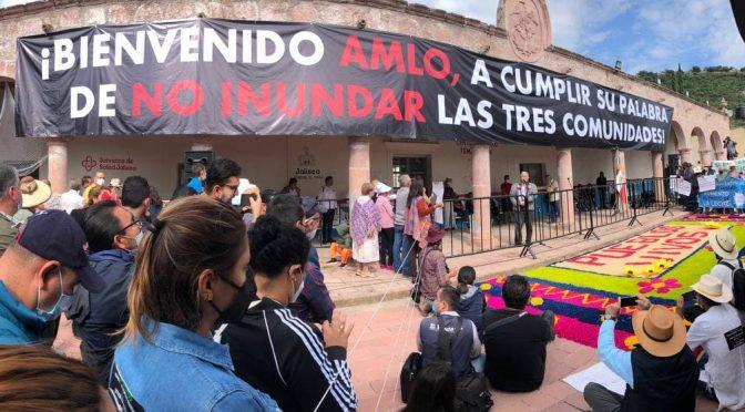 Jalisco- No habrá agua de El Zapotillo para León; AMLO pacta con pueblos de Jalisco (Periódico correo)