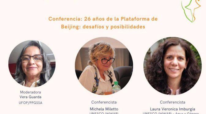 Conferencia – 26 años de la Plataforma de Beijing: desafíos y posibilidades (Seminario Latinoamericano de Agua y Género)
