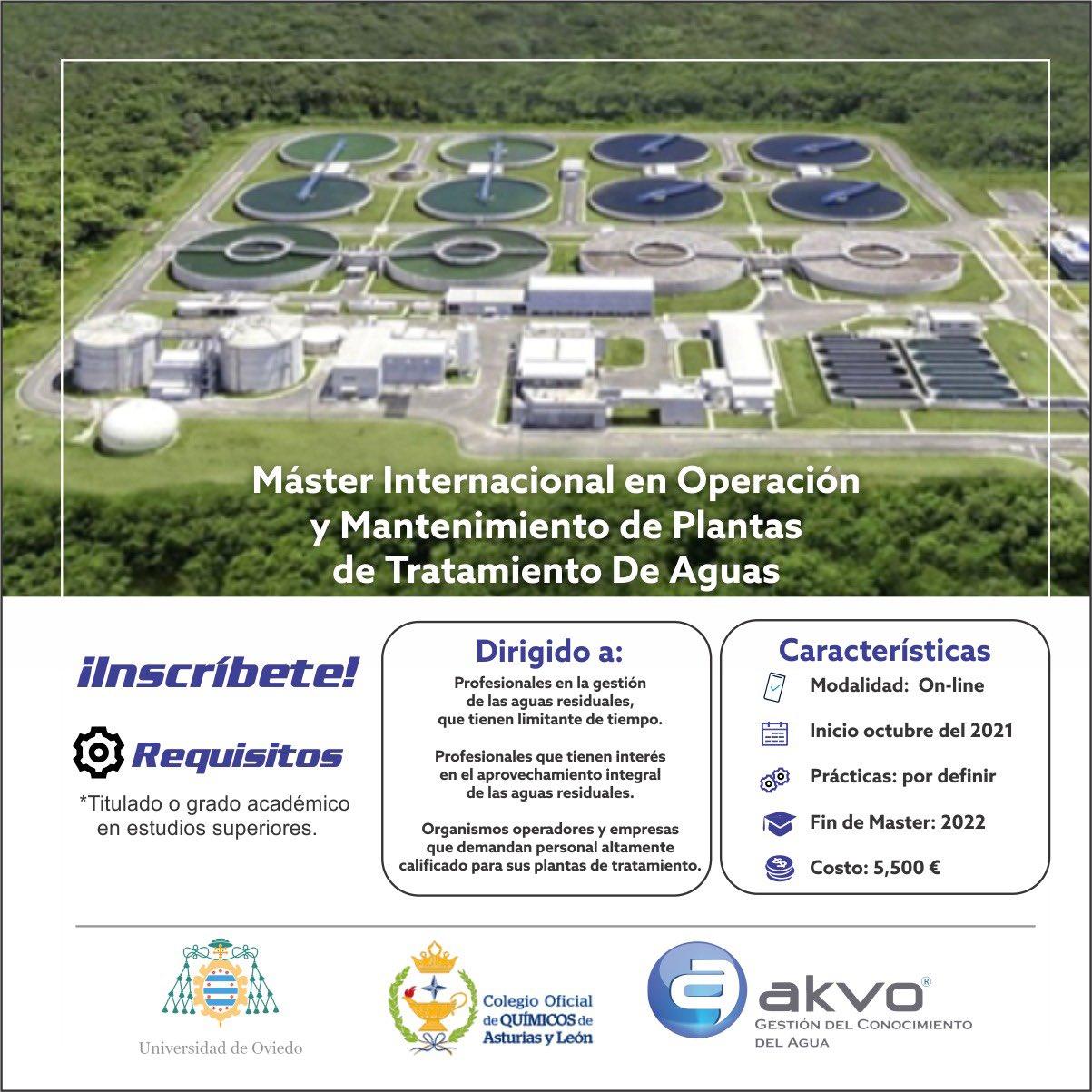 Master Internacional en Operación y Mantenimiento de Plantas de Tratamiento de Aguas (AKVO)