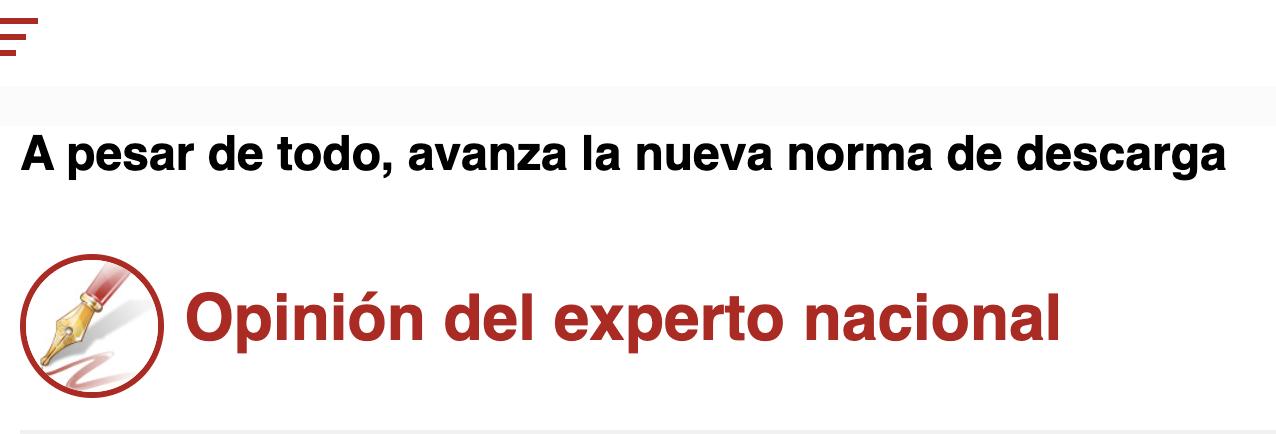 México – A pesar de todo, avanza la nueva norma de descarga (Excelsior)