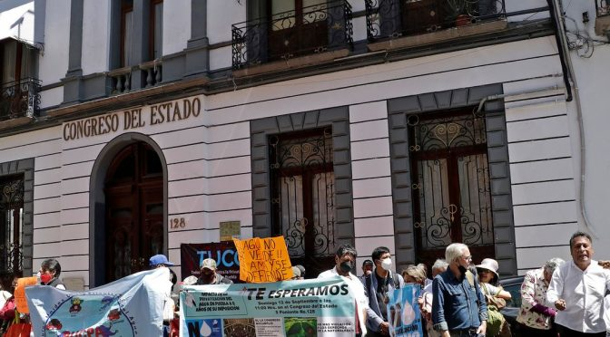 Puebla -Habitantes piden a nuevo Congreso revocar privatización del agua (Publimetro)