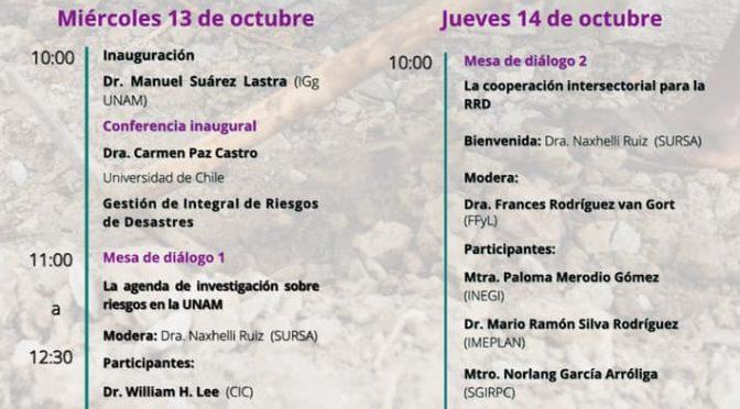 Ciclo de Actividades – Día Internacional para la Reducción del Riesgo de Desastres: el papel de la cooperación (Seminario Universitario de Riesgos Socioambientales)