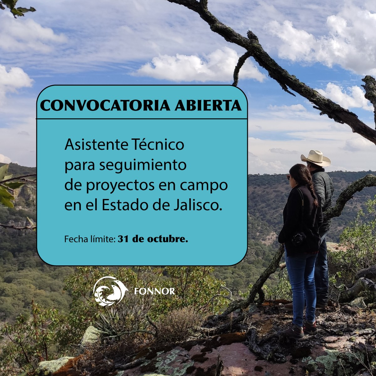 Vacante – Asistente Técnico para seguimiento de proyectos en campo en el Estado de Jalisco (FONNOR)