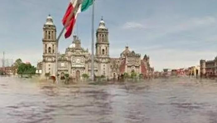 México – ¿El Zócalo inundado y San Lázaro con humo? Proyección de IA busca generar conciencia (Sin Embargo)